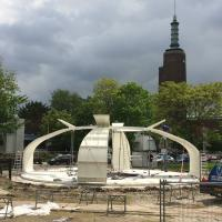 The steel structure, made by Vic Obdam Staalconstructie, is installed. Photo: Michiel Raats (May 12).